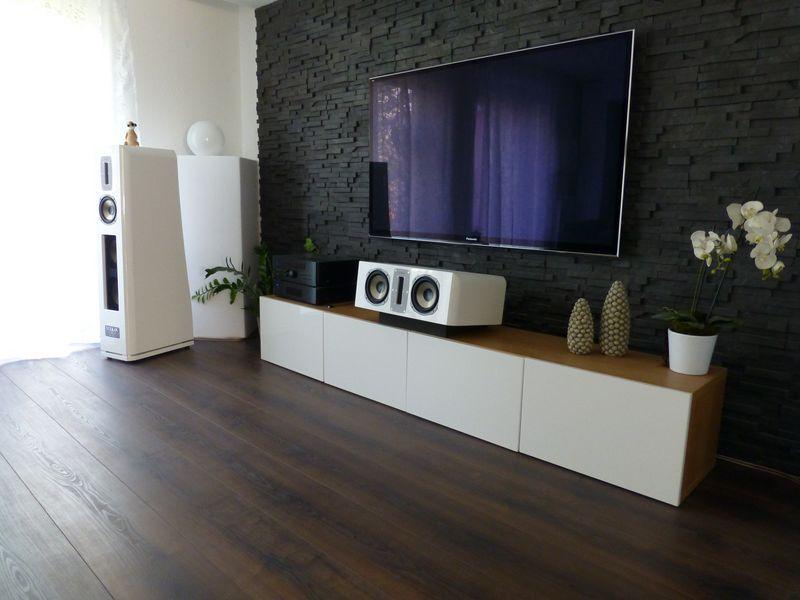 Die Besten 25+ Tv Wand Stein Ideen Nur Auf Pinterest | Tv Wand Aus ... Heimkino Wohnzimmer Ideen