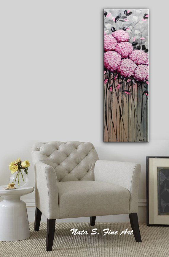 Wildflower Painting, Abstract Sculptural Artwork, Canvas Art, Daisy Painting, Meadows Art, Colorful Painting, Textured Wall Art by Nata S #decorateshop