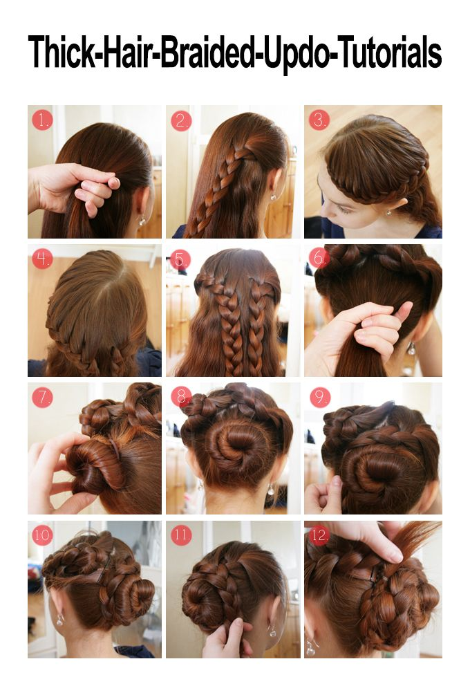 Thick Hair Braided Updo Tutorials Long Hair Styles Braided Hairstyles Updo Thick Hair Styles