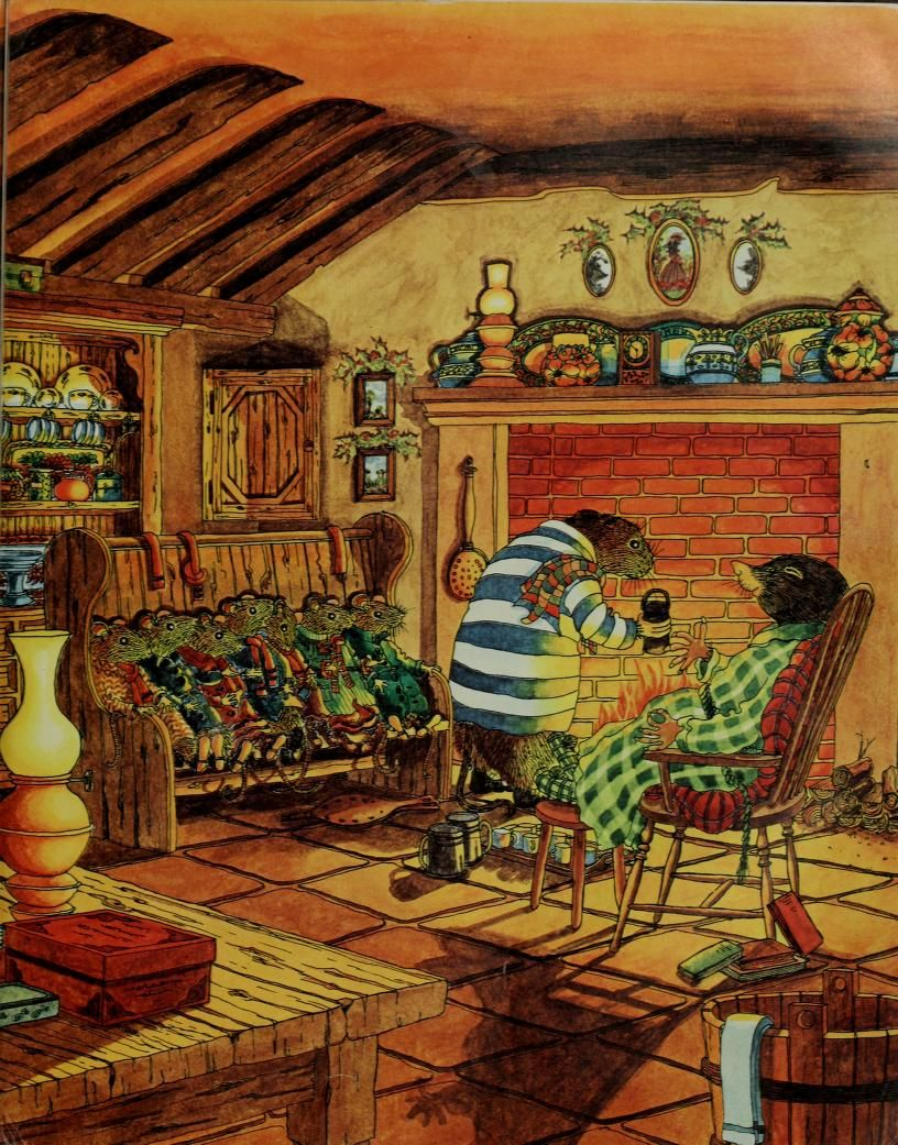 Home sweet home painting - Mole S Christmas Or Home Sweet Home From The Wind In The Willows By