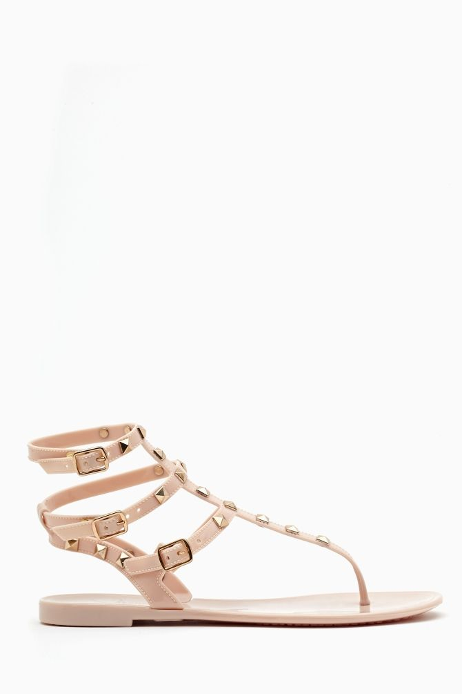 f5969698c5a5  48 Leyla Studded Sandal - Nude in Shoes at Nasty Gal