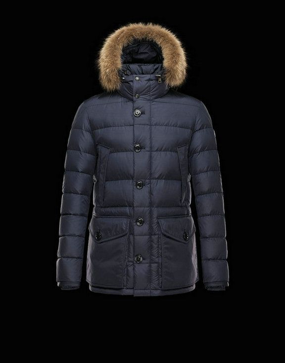 f13684c63 Men Moncler Down Jackets Cluny Blue