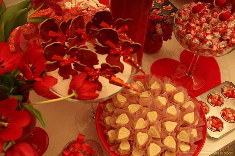 Decoração Chá Vermelha e RosaPrepare-se Para Casar | Prepare-se Para Casar