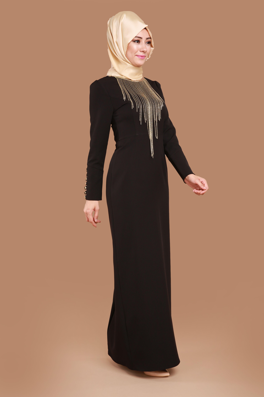 37514030b6e73 Kolyeli Kalem Elbise Siyah Ürün Kodu: YGS5073--> 109.90 TL ...