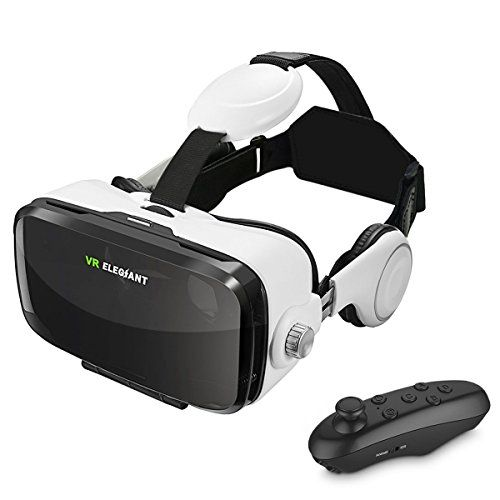 Vr Headset Elegiant 3d Vr Glasses Virtual Reality Headset Built In Headphone With Remote Control Virtual Reality Glasses Vr Headset Virtual Reality Headset