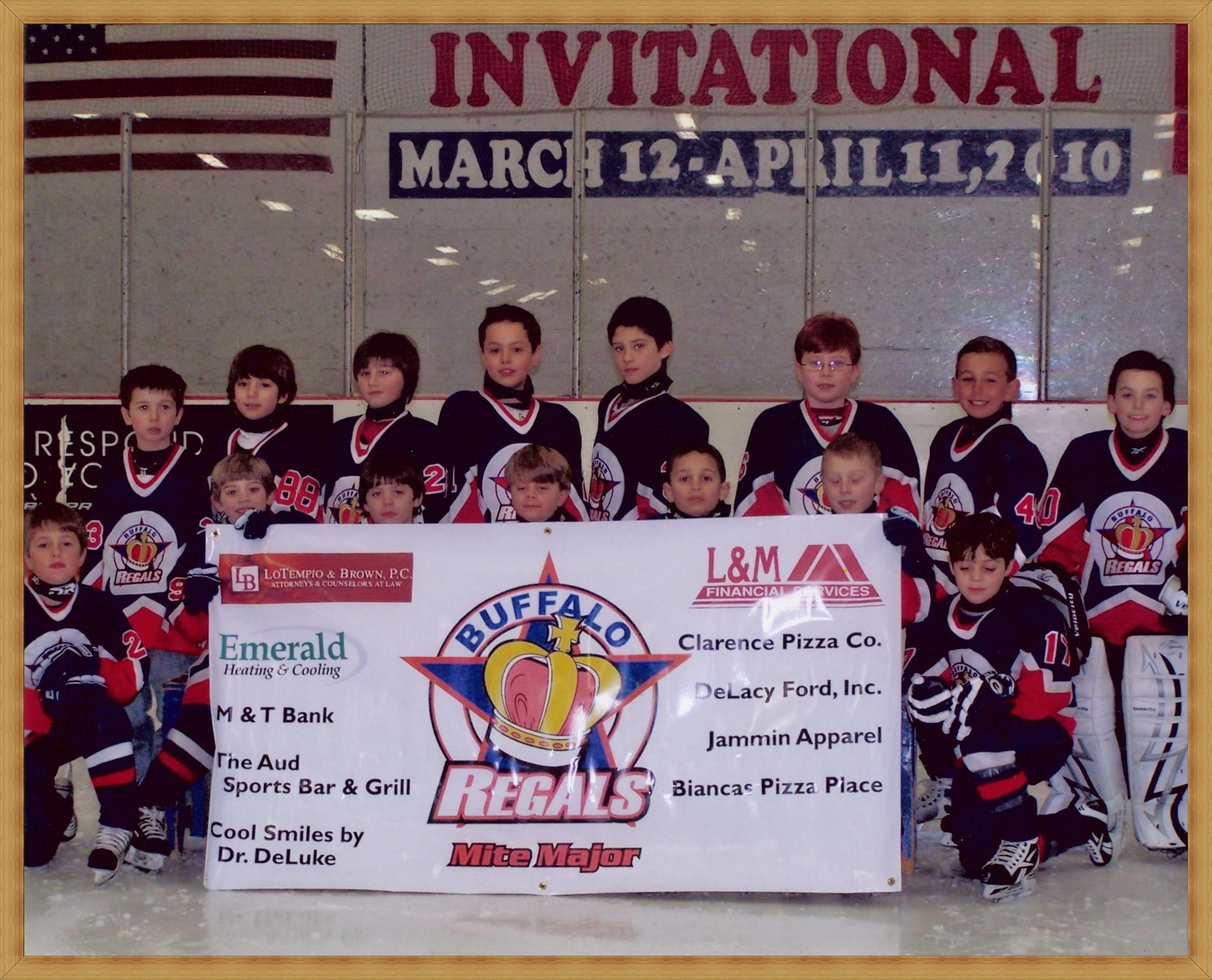 Emerald Heating Cooling Inc Sponsored The Buffalo Regals Hockey