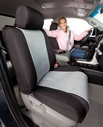 Caltrend Dura Plus Canvas Seat Covers Seat Covers White Fashion Accessories Truck Seat Covers