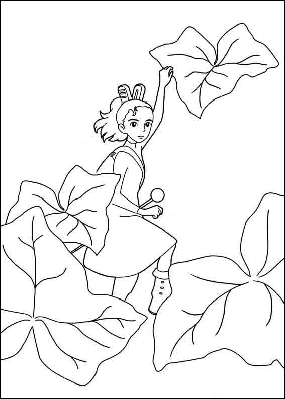 arrietty coloring pages 2  coloring books cartoon