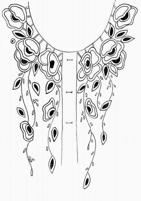 Para blusas | Decoración. | Pinterest | Bordado, Patrones de bordado ...