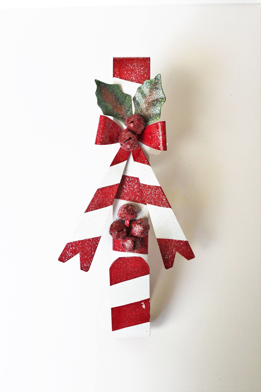 Double Wreath Hanger Christmas Wreath Hanger Candy Cane Wreath