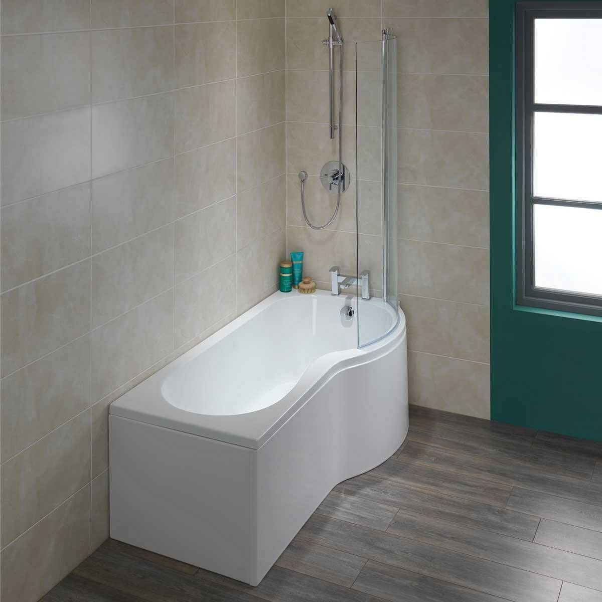 Small Bathroom Tub And Shower Combo: P Shape Shower Bath 1700 RH & Screen Now Only £249.00 From