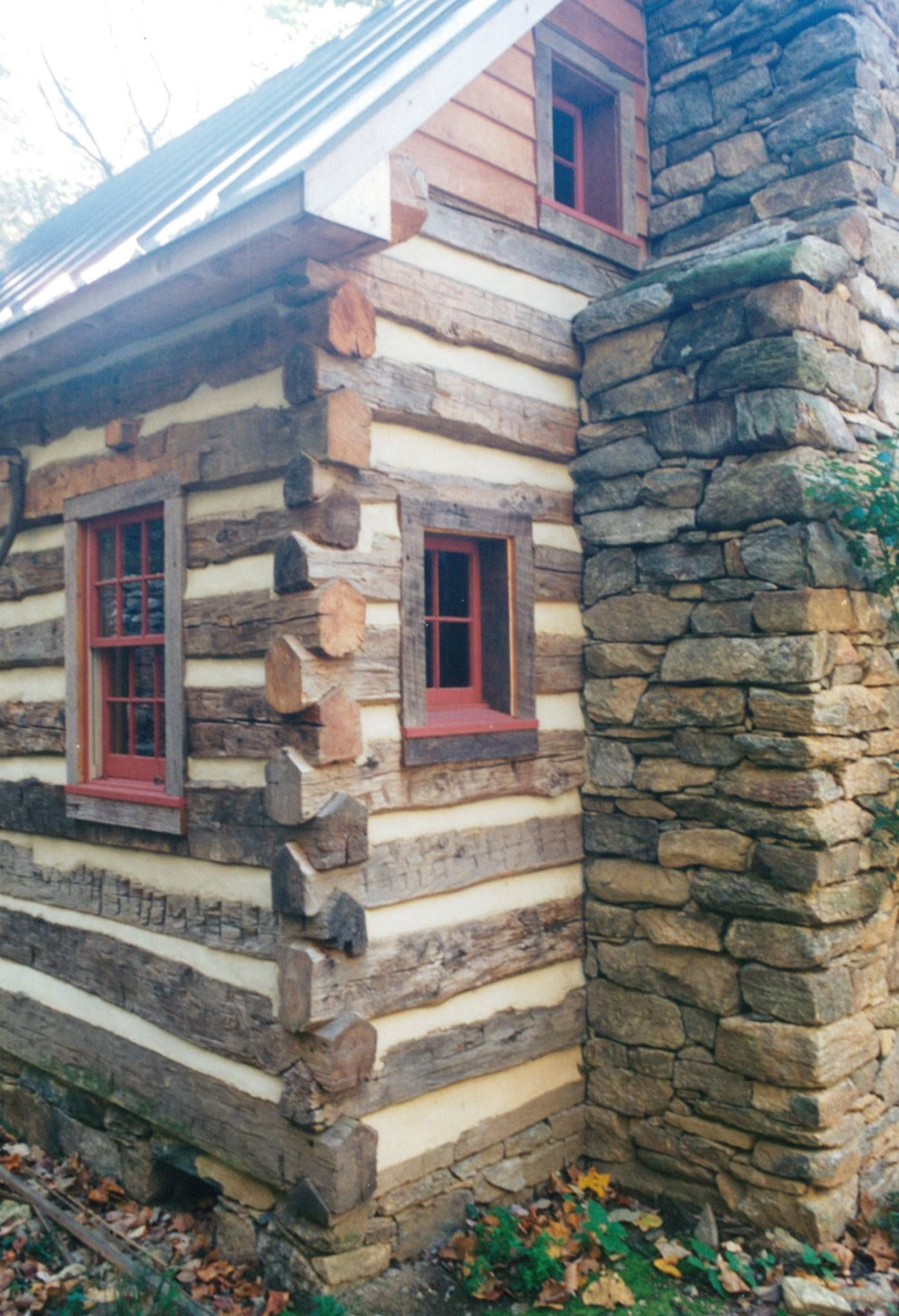 Traditional Log Cabin. Great details!