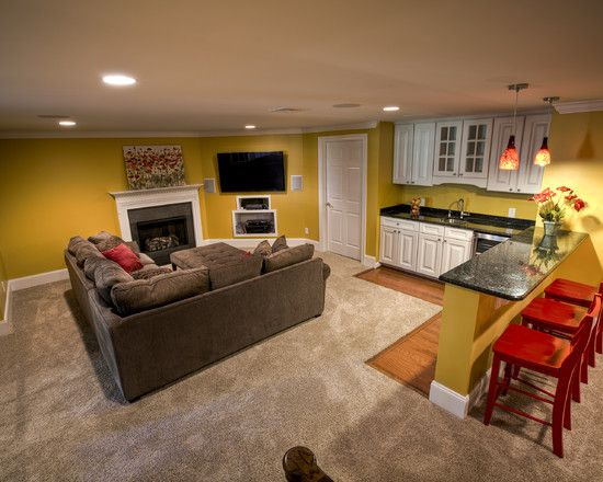 Basement Apartment Design Ideas Pictures Remodel And Decor Small Basement Apartments Basement Apartment Small Basement Remodel
