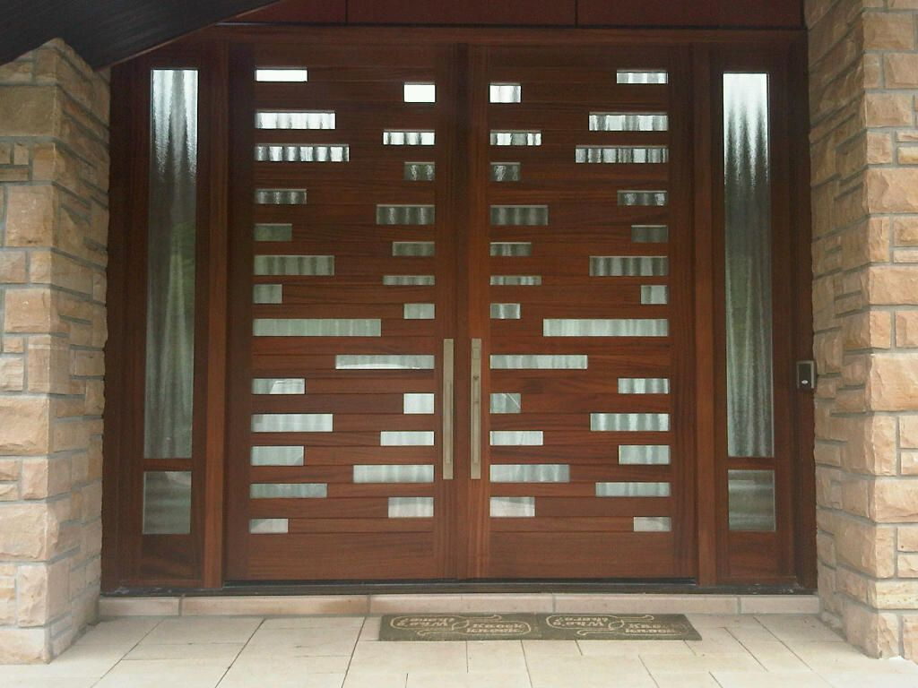 This Is The Largest Version Of One Of Amberwood S Signature Doors The Icicle This Double Mahogany Custom Wood Doors Entry Doors With Glass Double Entry Doors