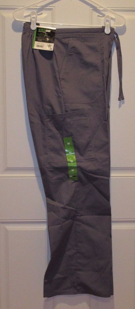 e6d22161cb2 Scrubstar Scrubs Sz Medium M - Gray Drawstring Cargo Pants New #Scrubstar