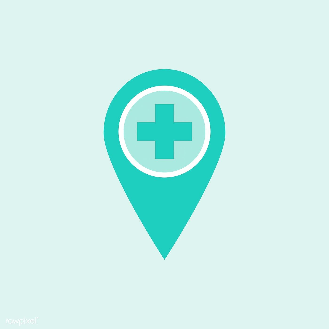 Green Medical Location Pin Element Vector Free Image By Rawpixel Com Manotang In 2021 Vector Free Location Pin Hospital Icon