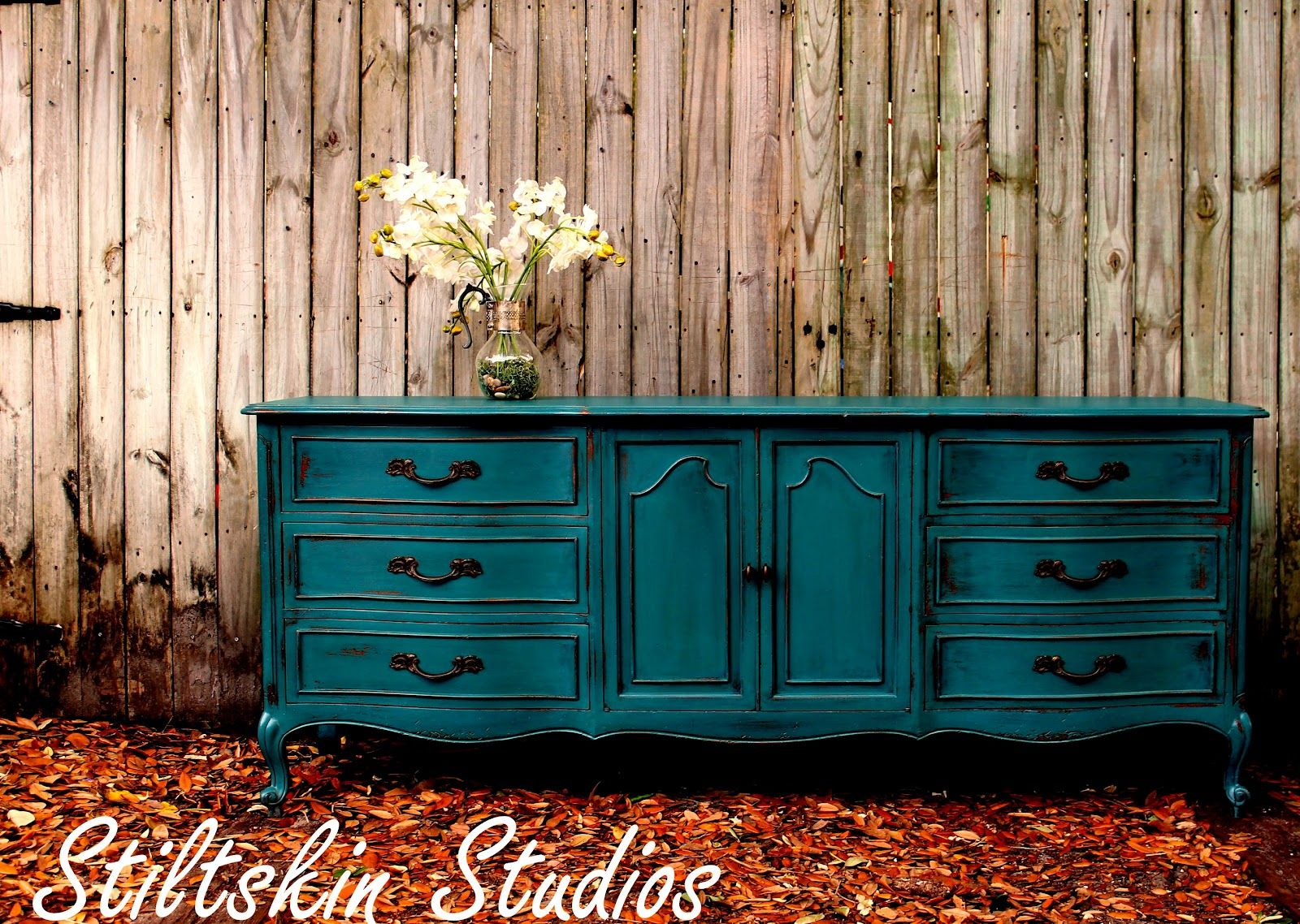 teal color furniture white painting french provincial furniture blue finally found few moments to finish this dresser