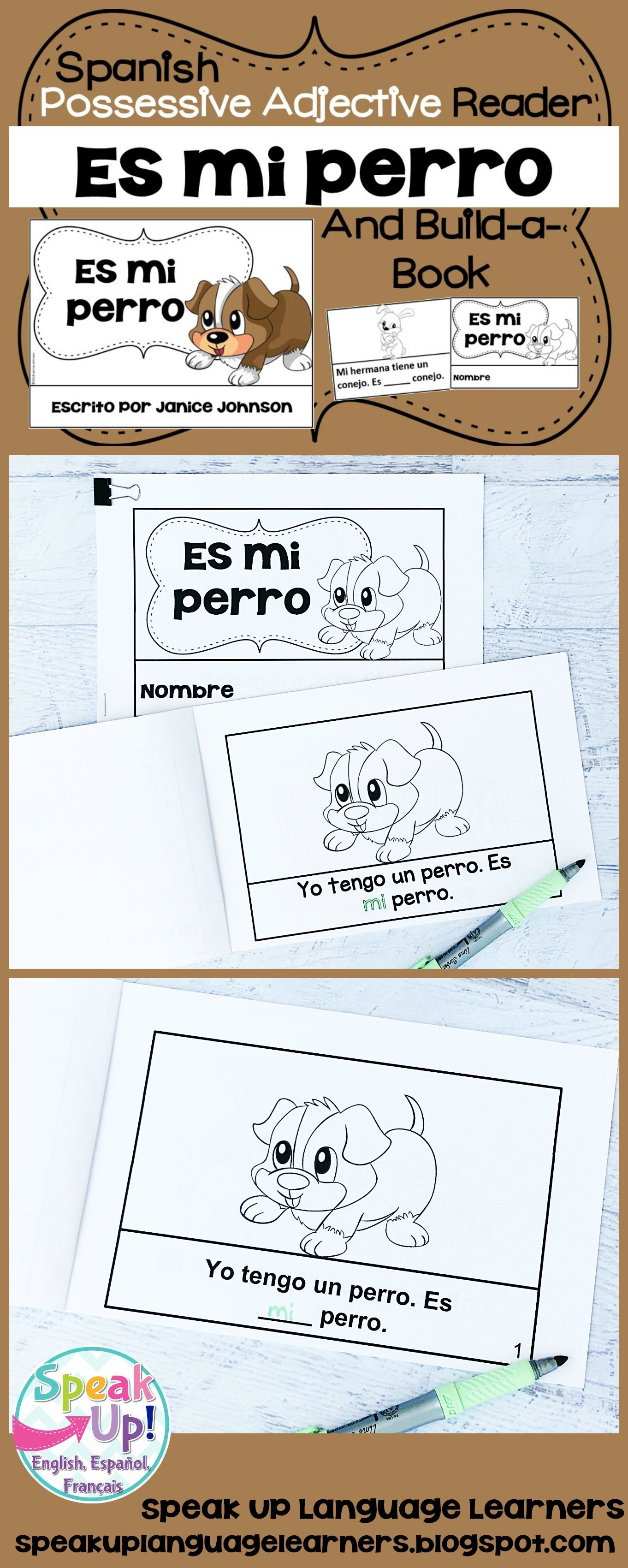 Spanish Possessive Adjectives Animals Reader Amp Build A