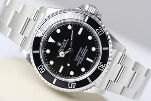 MENS ROLEX SUBMARINER STAINLESS STEEL BLACK DIAL 14060 M 2008