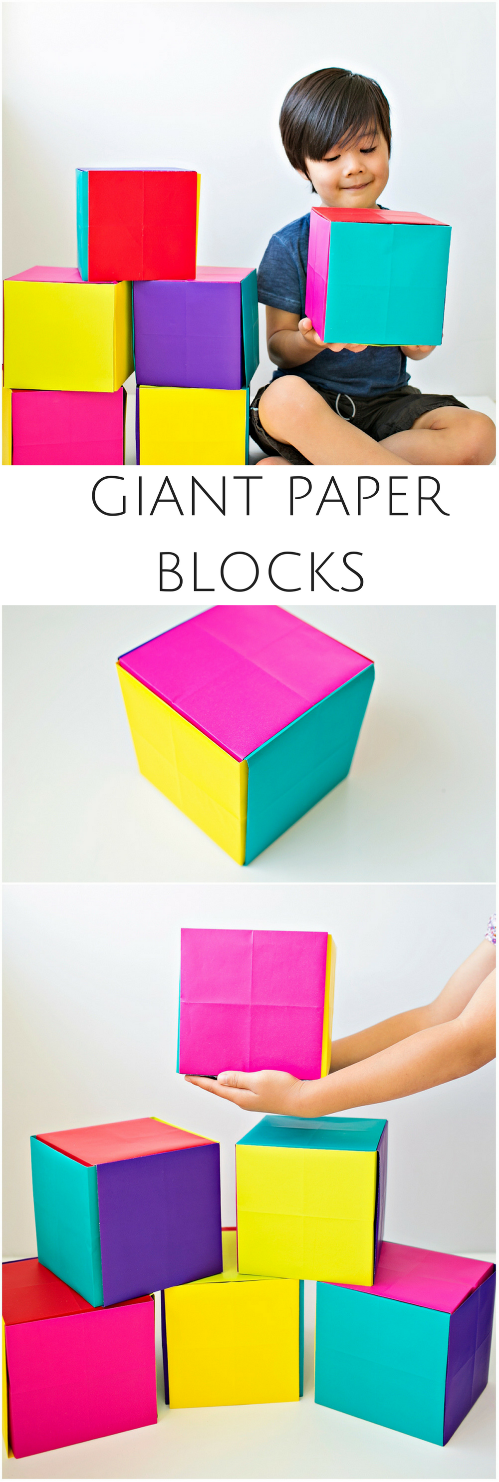 How To Make DIY Giant Paper Boxes And Blocks Easy Origami Project Building