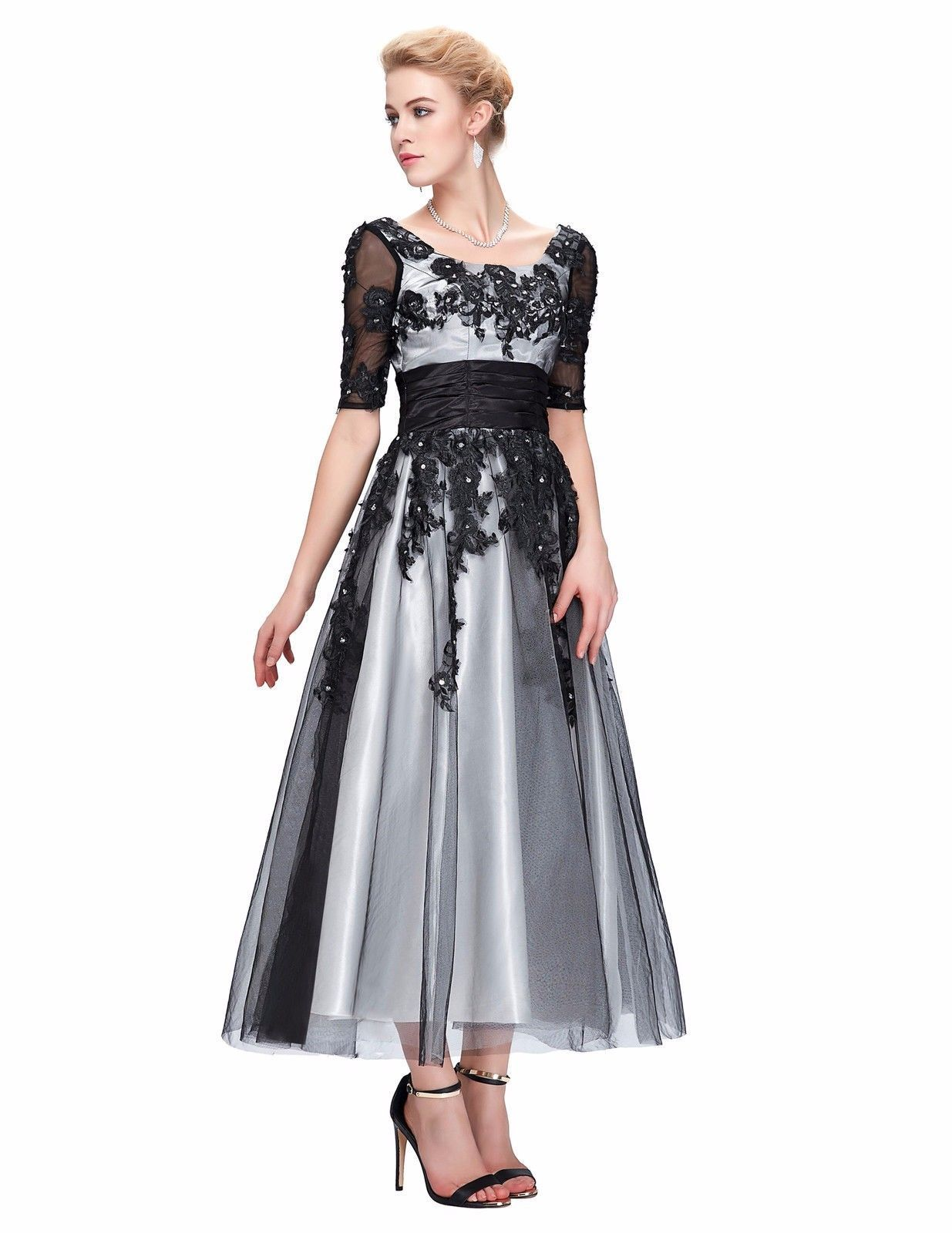 Awesome cocktail prom wedding gown long vintage formal party evening