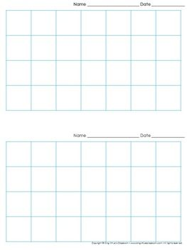 graph paper 2 per page grid 1 inch squares 7x4 boxes king