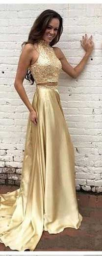 61ecda130d Two pieces Prom Dress