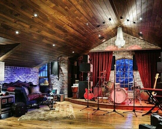 15 Design Ideas for Home Music Rooms and Studios   Stage, Room and on small recording studio design, small space living, small room designs cool music, small music studio ideas,