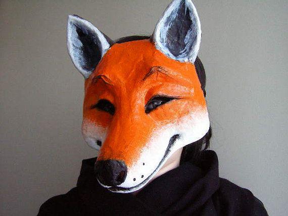White Fox Mask Masquerade Mask Carnival Mask Cosplay Mask