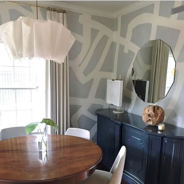 "Wallpaper ""TangledArgent"" Wallcovering Unique home"