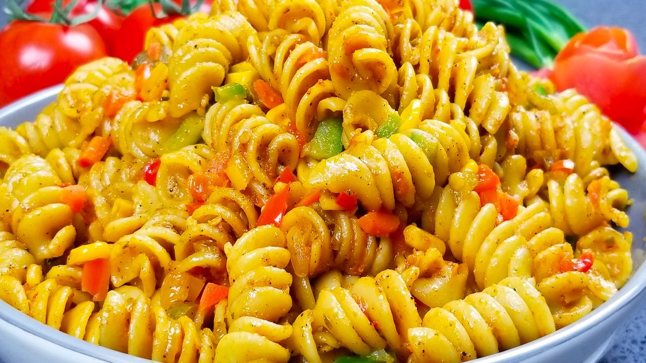 Spicy Veg Pasta Recipe Indian Style Pasta Recipe Pasta Indian Style Recipe Pasta Recipes Indian Vegetable Pasta Recipes