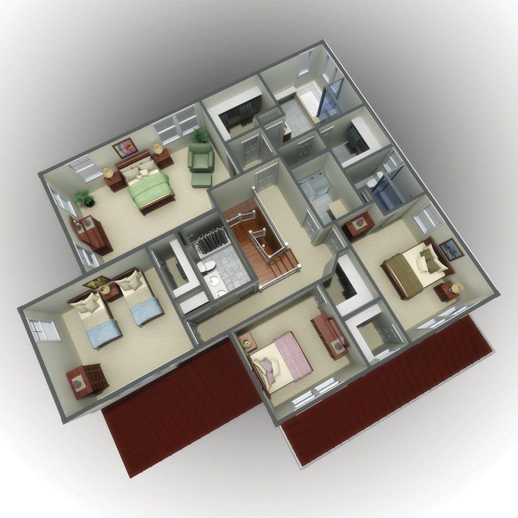 3D Floor Plan Renderings Rendered floor plan, House