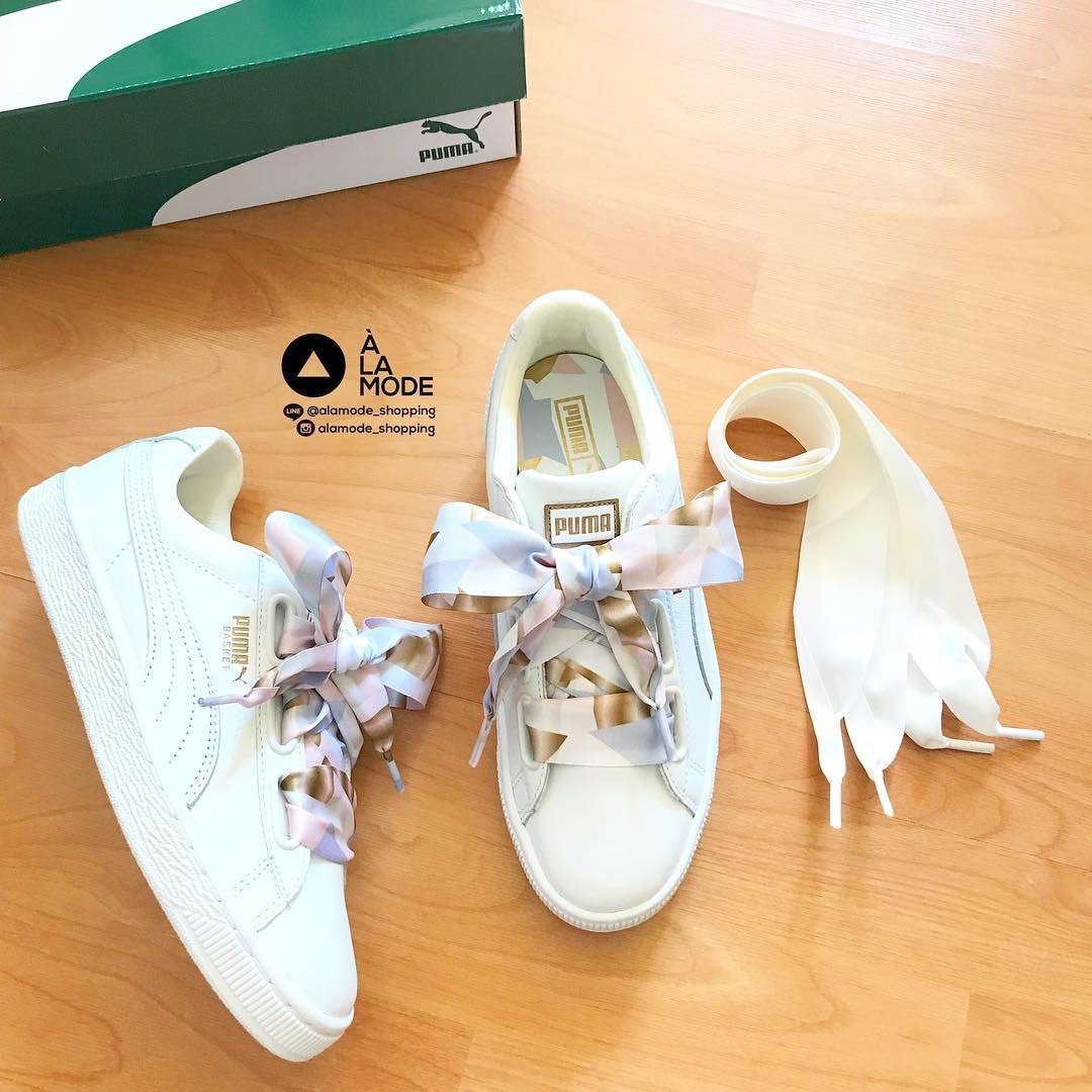 Inadecuado Macadán America  Customer's order, Puma Basket Heart Geo Camo, comes with 2 types of  rope to choose from (฿ 4 ...-#* | Puma basket heart, Puma, Sneaker tag