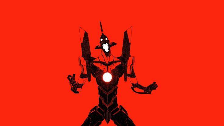 minimalistic mecha Neon Genesis Evangelion anime EVA Unit