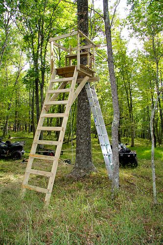 Pictures of homemade tree stands google search hunting for Free tree stand