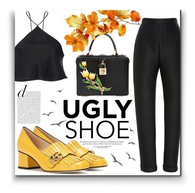 """""""Ugly (But Chic?!) Shoes"""" by alinnas ❤ liked on Polyvore featuring Brandon Maxwell, Gucci, Dolce&Gabbana and uglyshoes"""