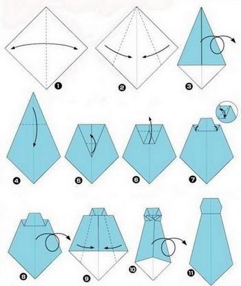 Открытки оригами 23 февраля, днем прощения