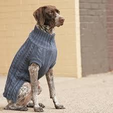 Large Detailed and Stylish Hand Knit Dog Sweater