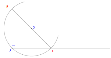 how to construct a 90 degree angle with