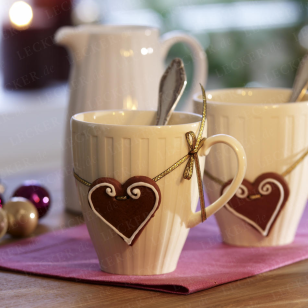 There is no recipe, but the idea the heart with the mug