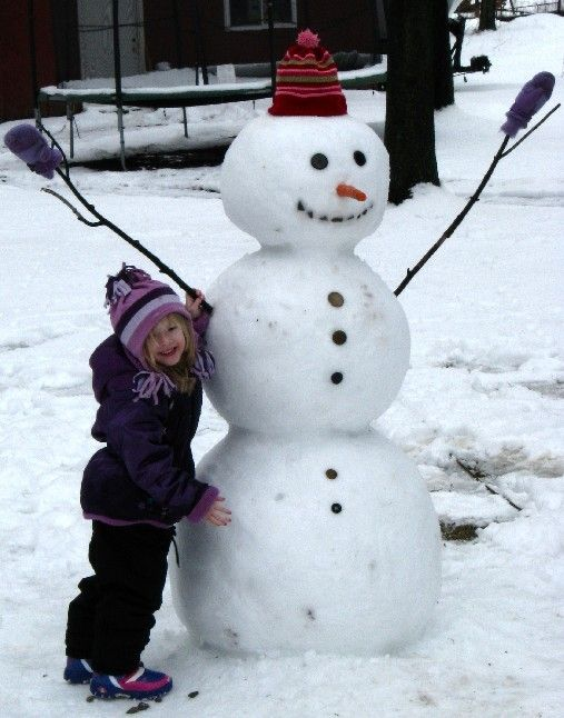 Done make a snowman when i was 4 we lived in chicago for How to make a snowman