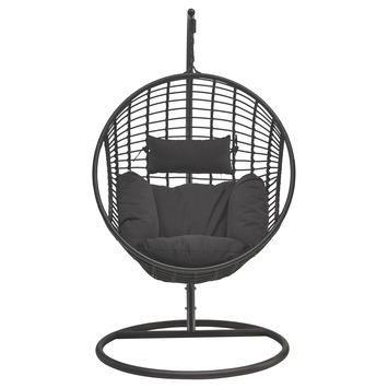 Hangmat Kopen Karwei.Hangstoel Joya Wicker Zwart In 2019 Terrasideeen Hangstoel