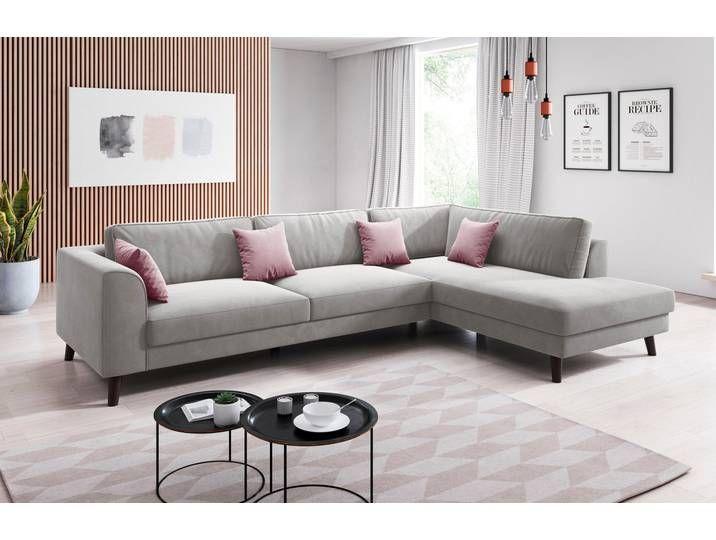 Inosign Ecksofa Laurentia Mit 4 Zierkissen Ottomane Links Oder Rec Couch Living Room Carpet Sofa