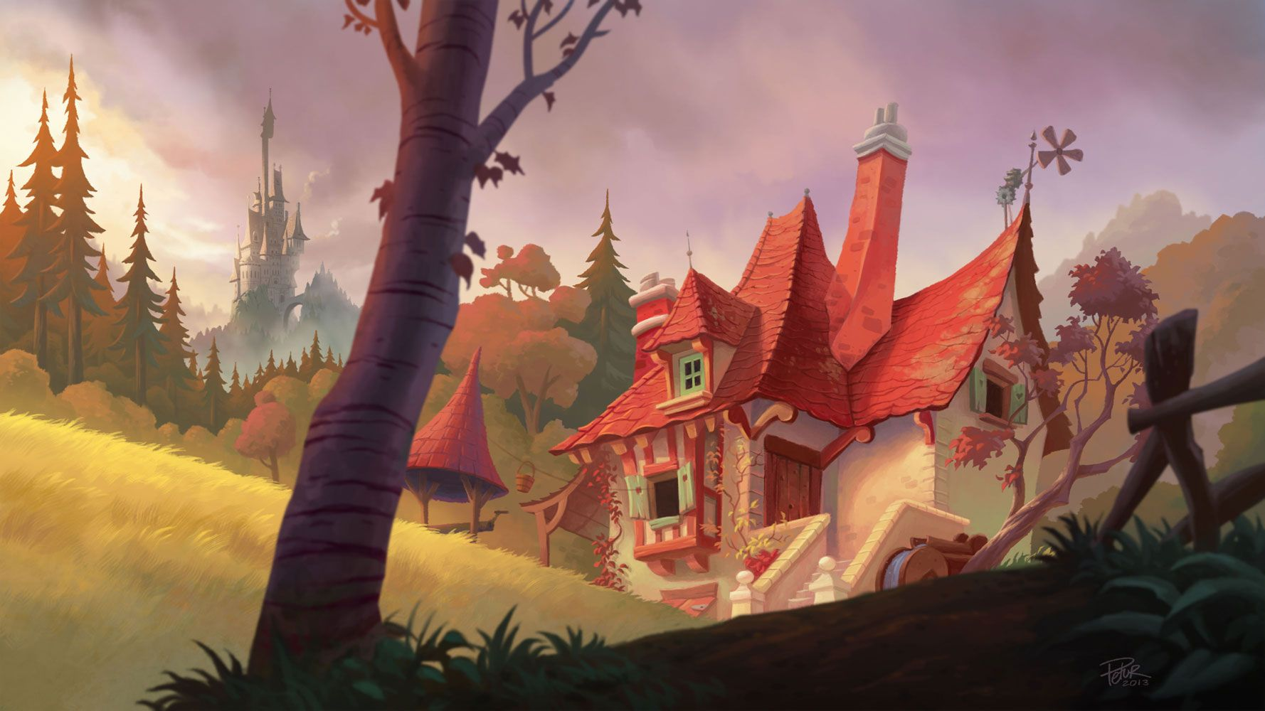 Belle's house by petura on deviantART
