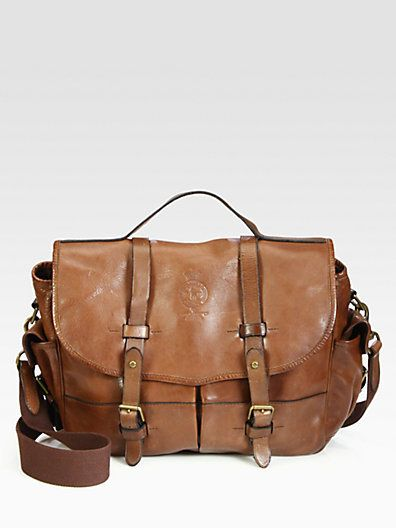 6706dcdf51cb Brown Leather Messenger Bag by Polo Ralph Lauren. Buy for  550 from Saks  Fifth Avenue