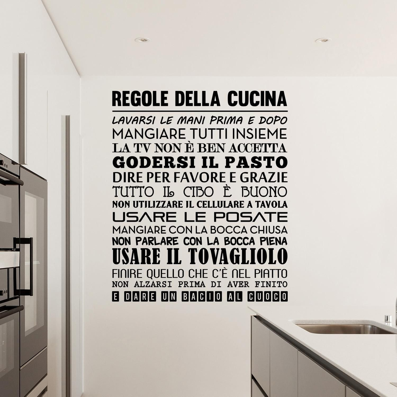 Adesivi da parete Regole della Cucina Wall Sticker Adesivo ...