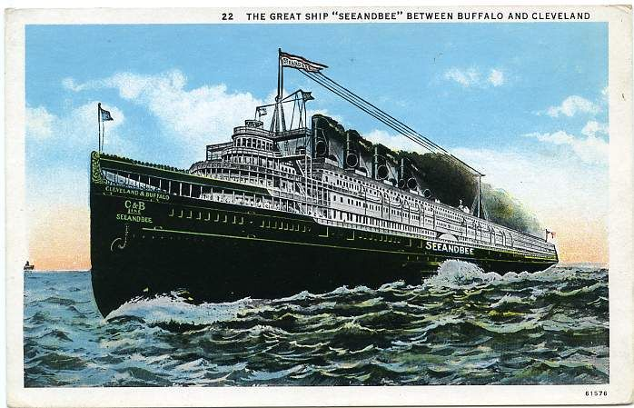 CRUISING THE GREAT LAKES IN THE S ABOARD THE STEAMER SEEANDBEE - 1930s cruise ships