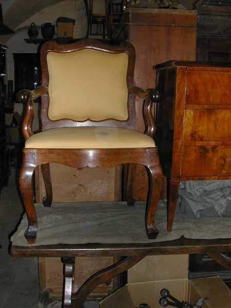 Antica Poltrona in noce 1700 | Accessori per la casa ...