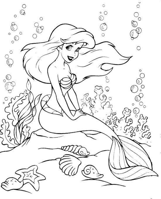 Disney The Little Mermaid Coloring Page Ariel Coloring Pages Mermaid Coloring Pages Mermaid Coloring Book