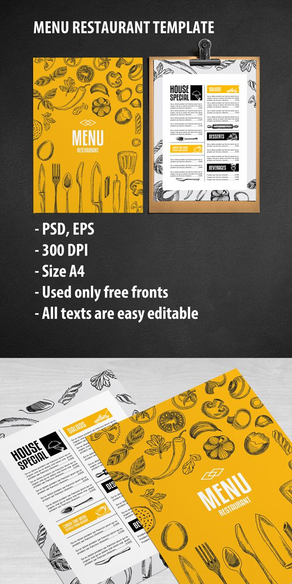 Showcase And Discover Creative Work On The Worlds Leading Online - Creative menu design templates